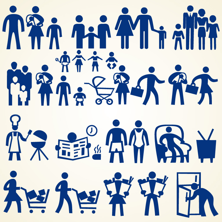 Family People Icon Set