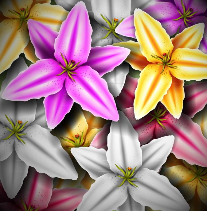 Flowers Realistic Illustration 3