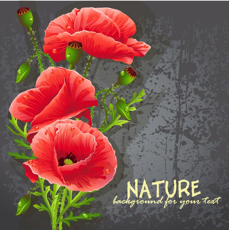 Flowers Realistic Illustration