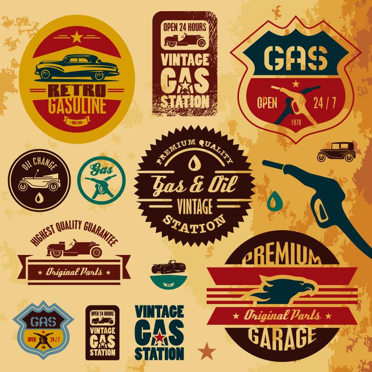 Vintage Oil Gas 100