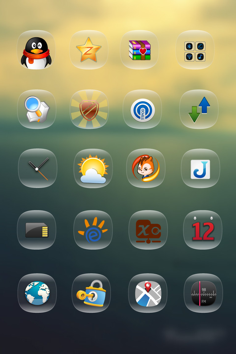 Glass Texture App Icon