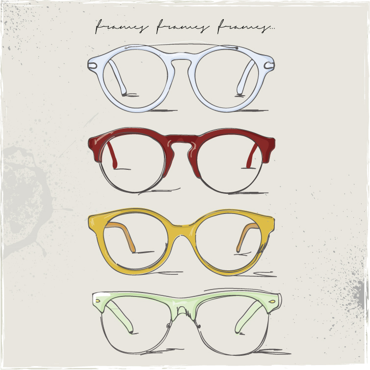 Hand Drawn Glasses Frame