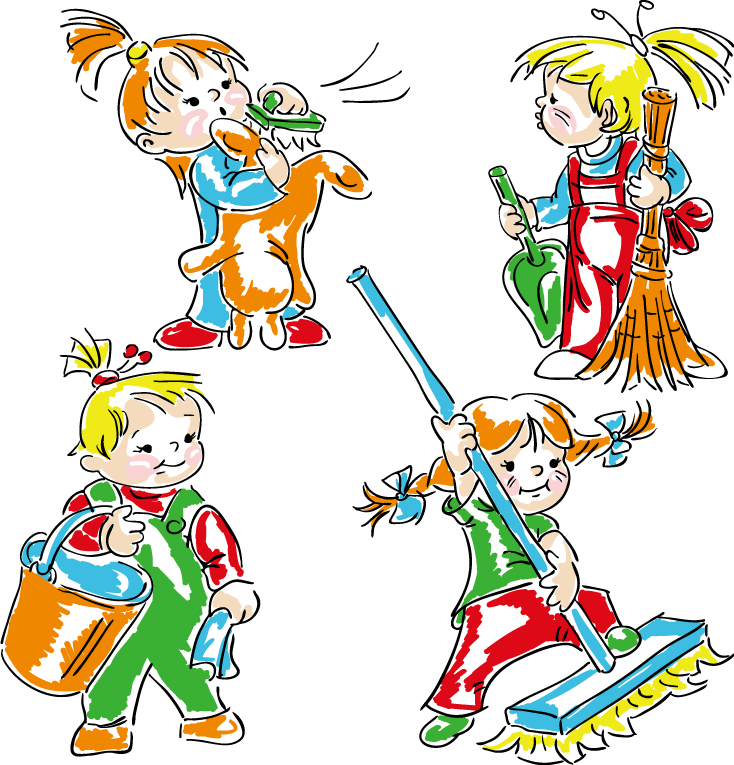 Kids Housework 2 | Free Vector Graphic Download