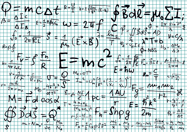 Math formulas sketch