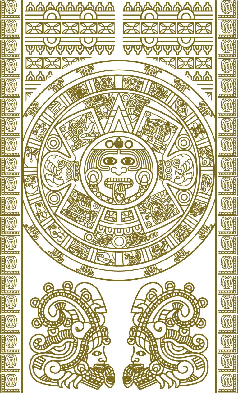 Maya Calendar Plate