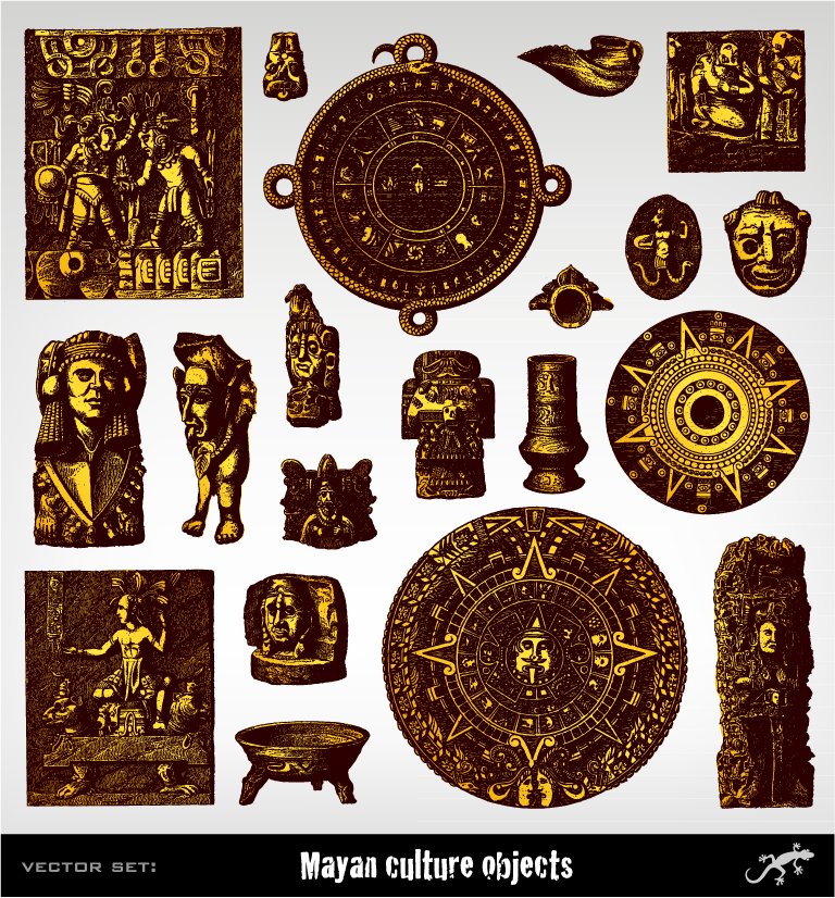 Mexican Mayan Culture Objects