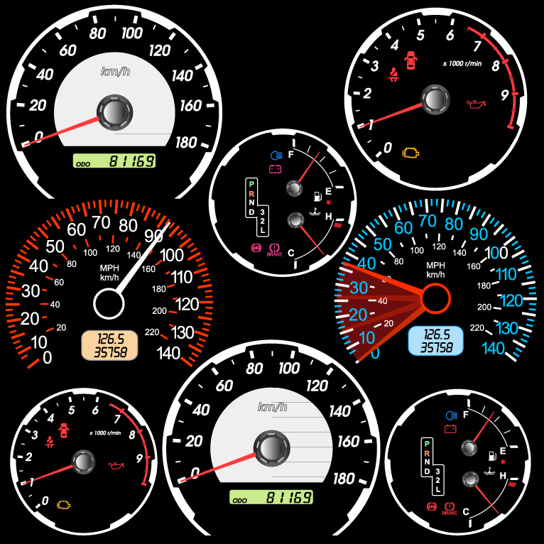 Motor Vehicles Speedometer and Odometer 2