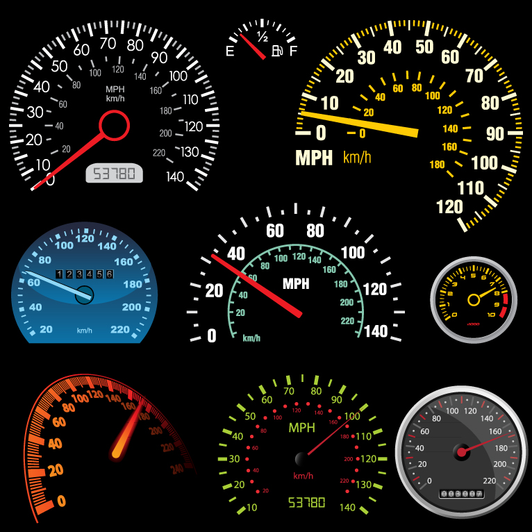 Motor Vehicles Speedometer and Odometer
