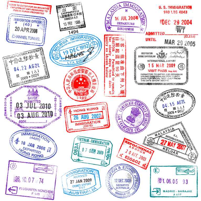 Passport Stamps Design Free Vector Graphic Download