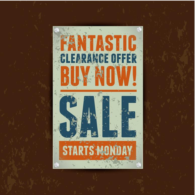Retro Sale Poster