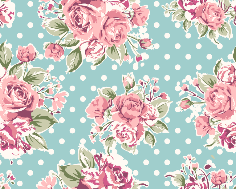 Rose Pattern Background 2