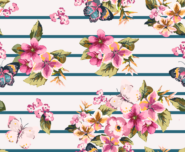 Rose Pattern Background 4
