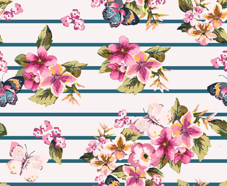 Rose Pattern Background 4