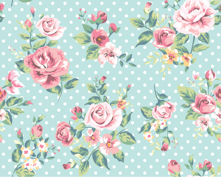 Rose Pattern Background