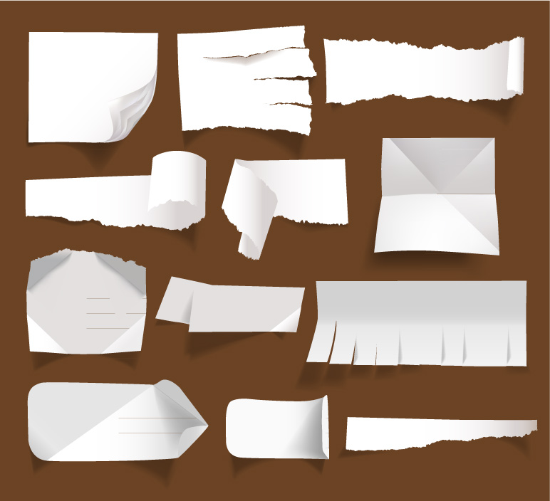 Tear Mark Paper