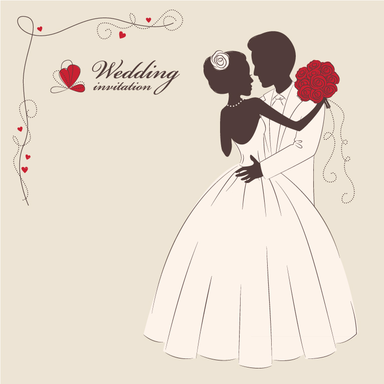 Wedding invitation 2 free vector graphic download wedding invitation 2 stopboris Images