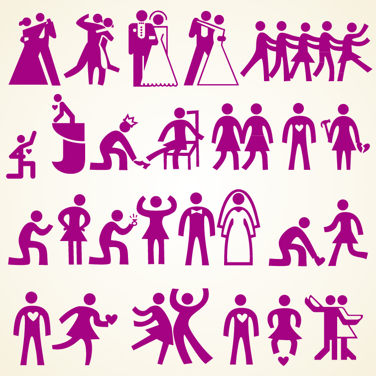 Wedding People Icon Set