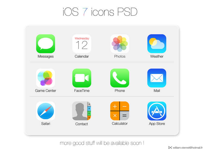 Ios 7 icons psd free vector graphic download ios 7 icons psd thecheapjerseys Gallery