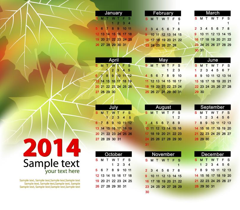Calendar 2014 25