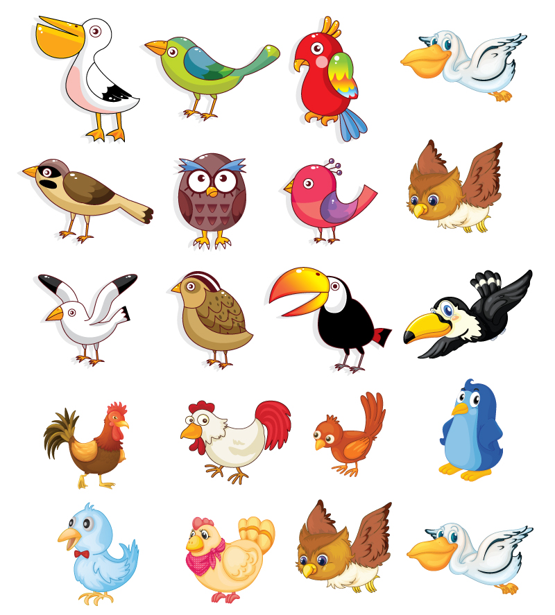Cartoon Bird Poultry