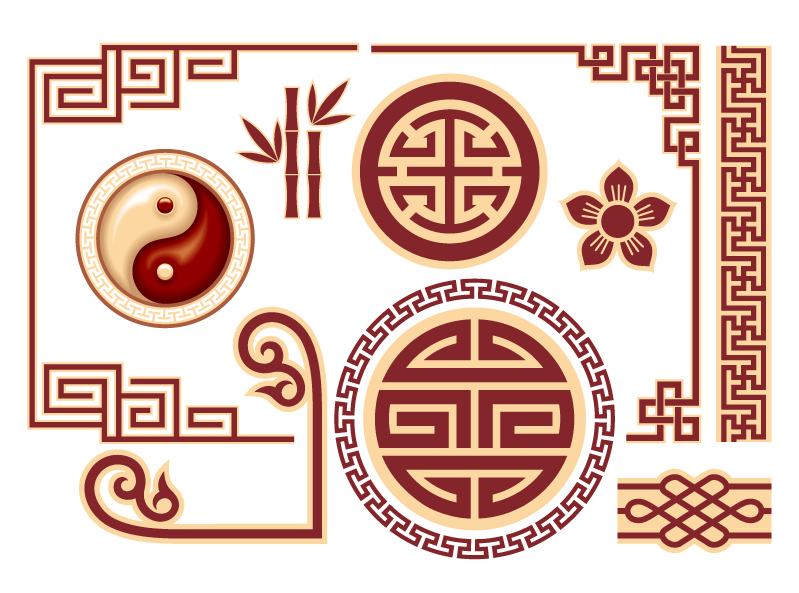 Chinese Pattern Vector Chinese classical pattern