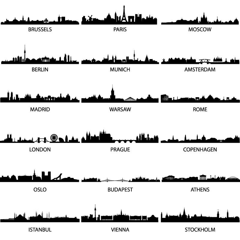 City Landmarks Silhouette 2