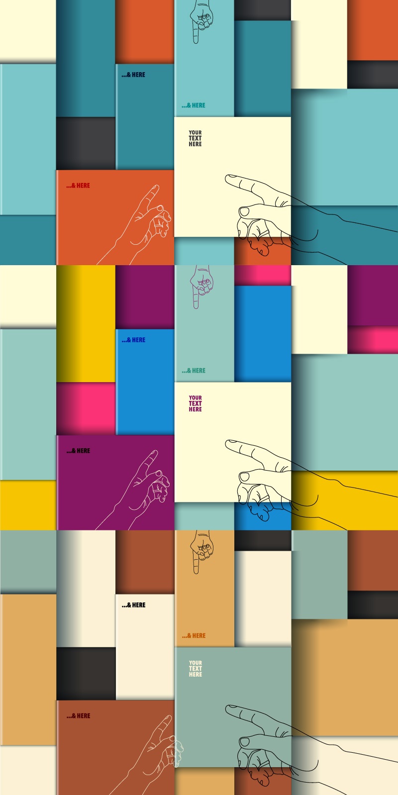 Colorful Boxes Stacked Fight Background