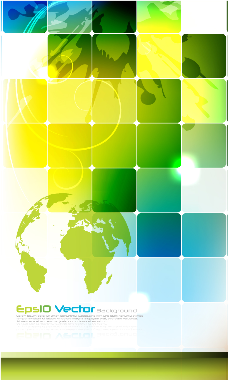 Colorful Grid Technology Background 2