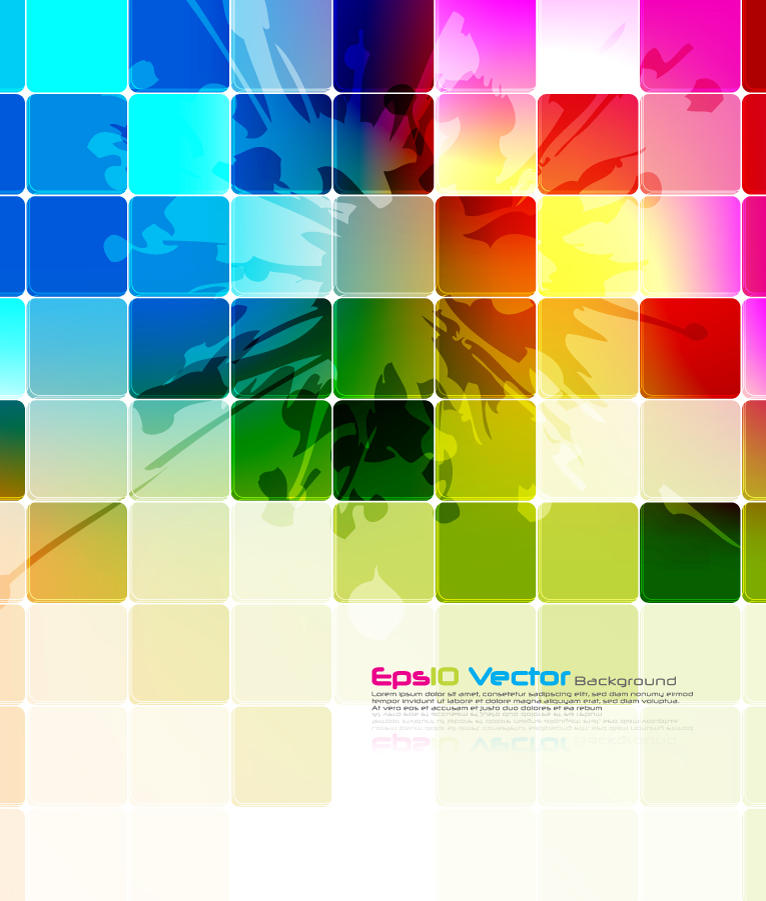Colorful Grid Technology Background
