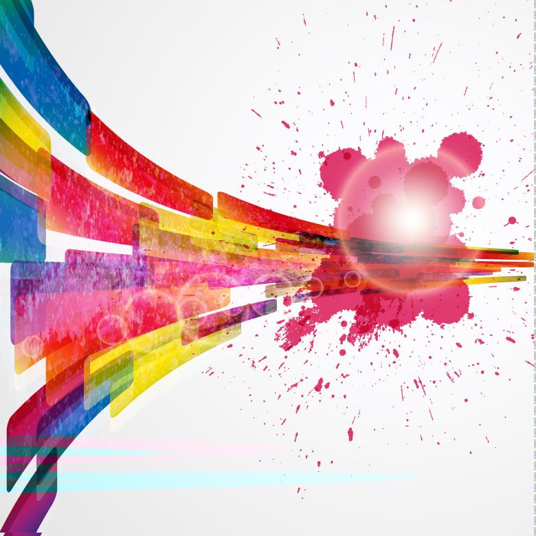 Colorful Paint Splashes Background