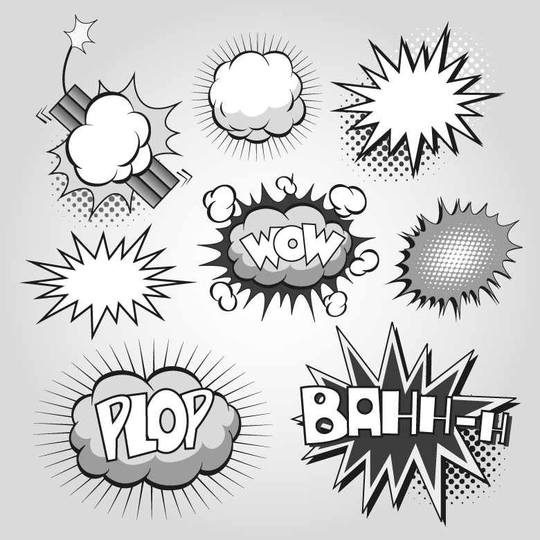 Comic Book Explosion Plop