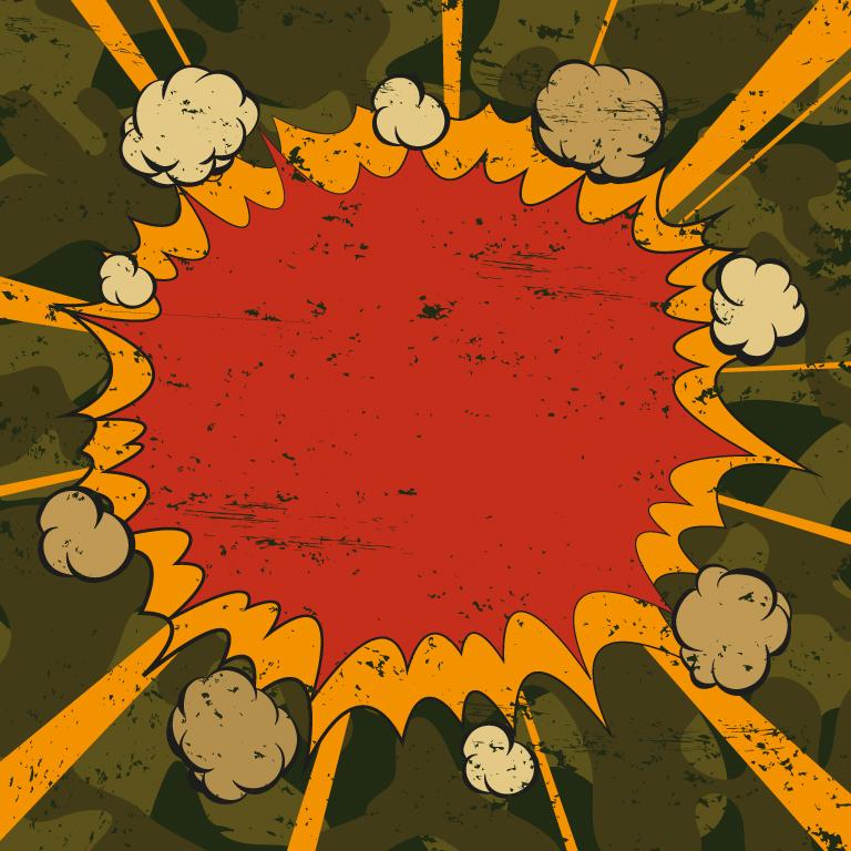 Comic Book Explosion Raster