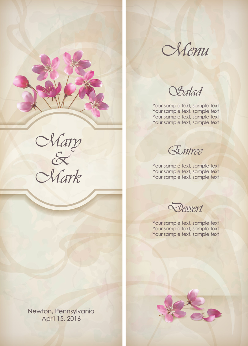 Floral invitation free vector graphic download floral invitation stopboris Image collections