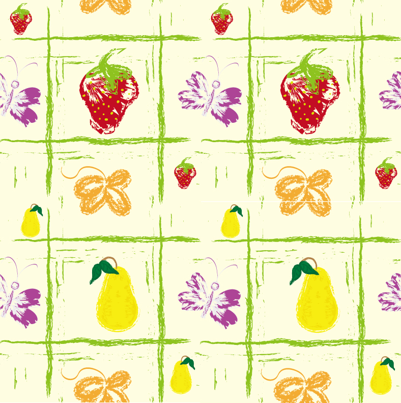 Hand Drawn Fruit Background