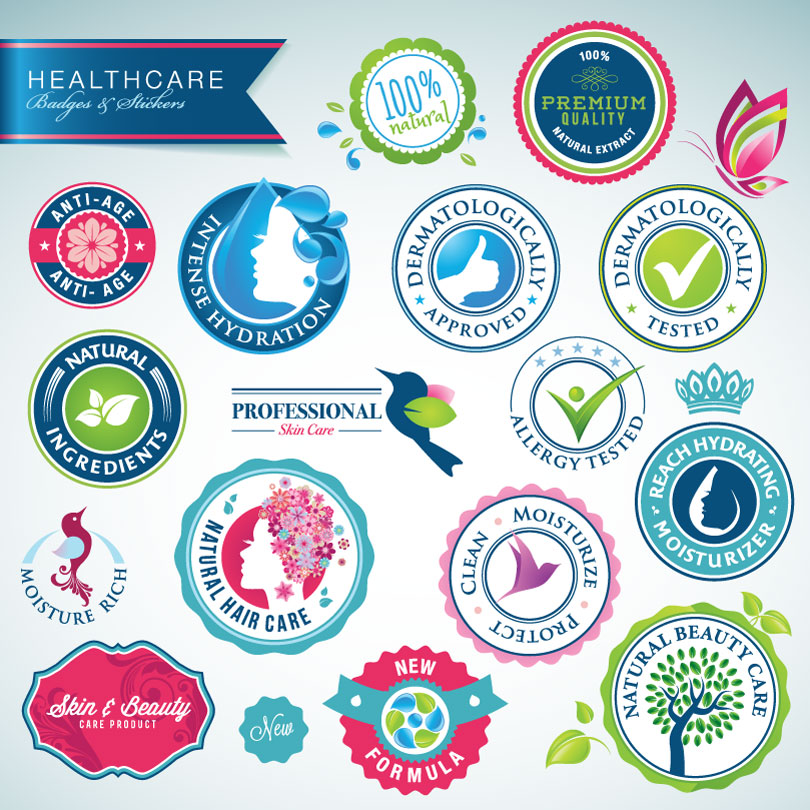 Healthcare Badges Stickers