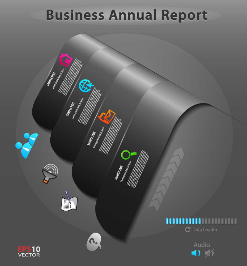 Infographic Business Annual Report