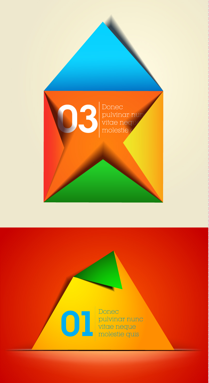 Infographics Numbered Origami