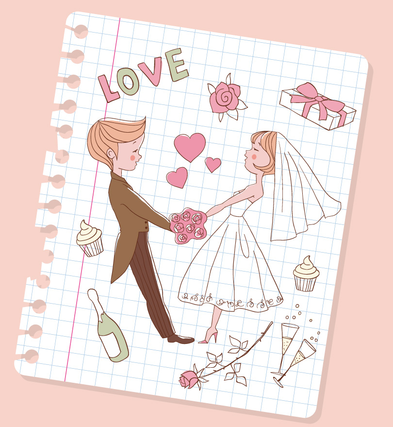 Painted Wedding Heart Illustrator