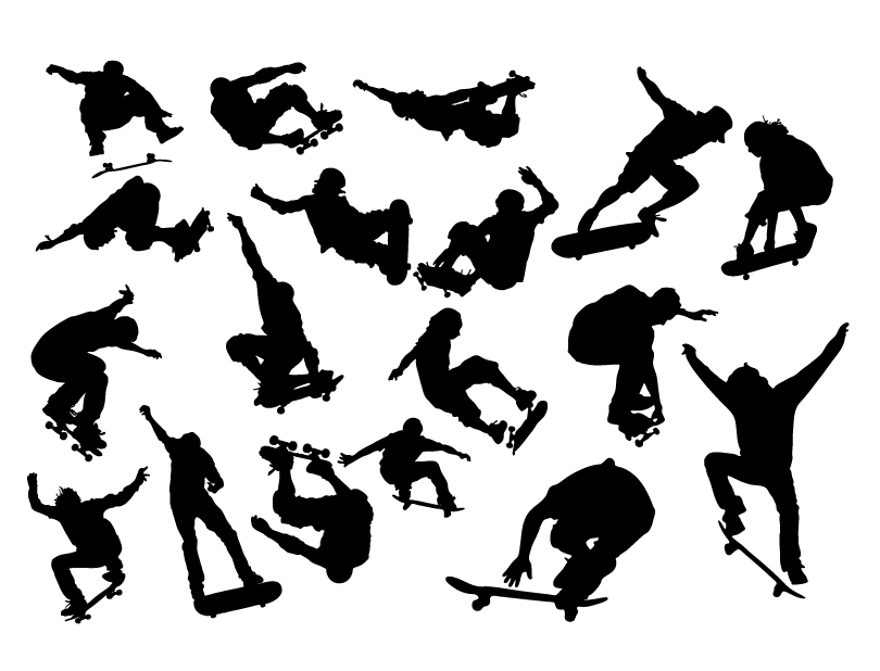 People Sport Silhouettes