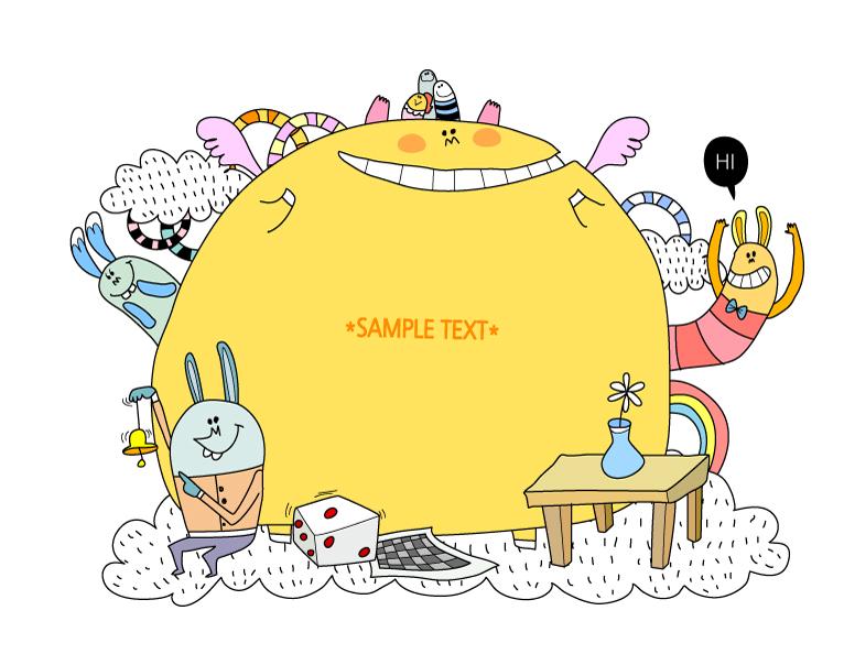 Rabbit Monster Illustrations