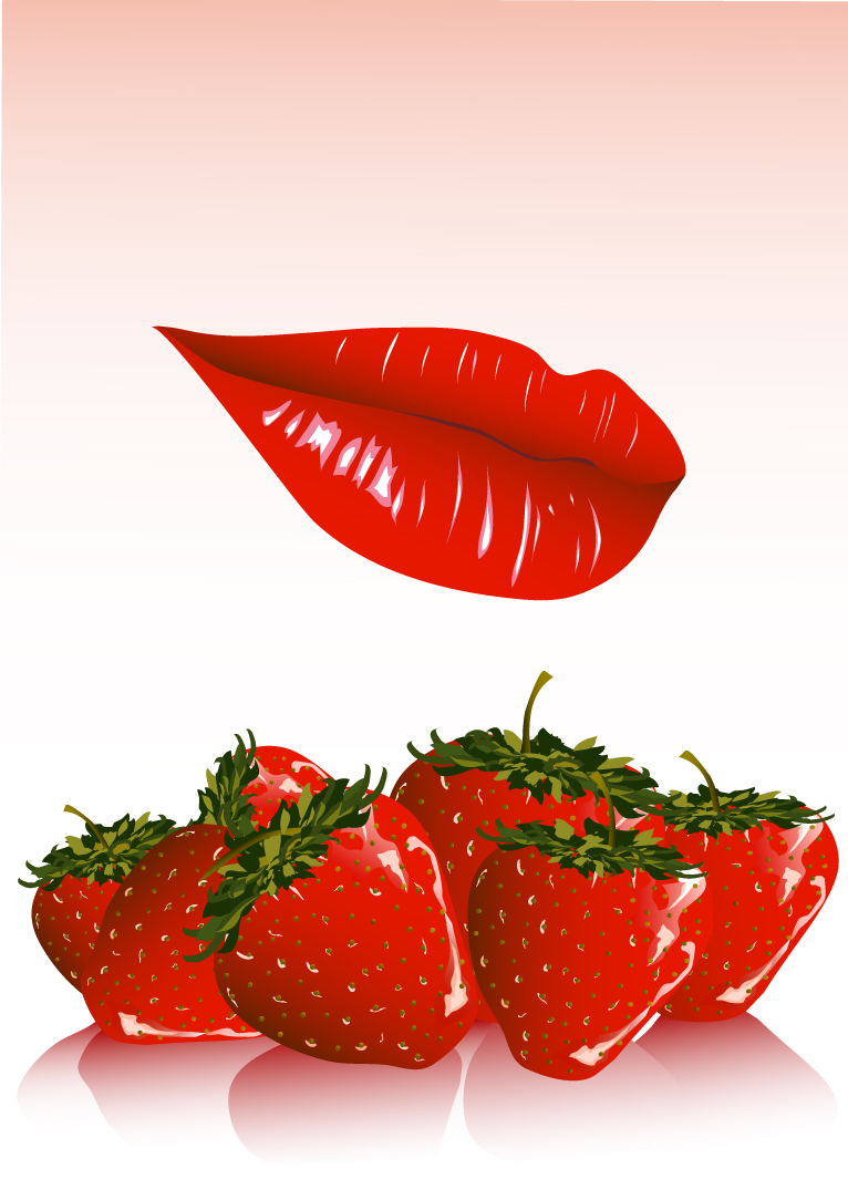 Red Lips and Strawberry