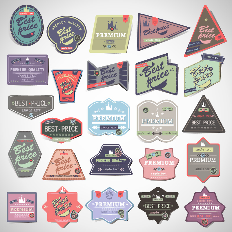 Retro Alien Labels