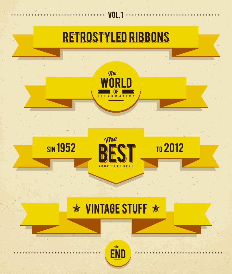 Retro Styled Ribbons