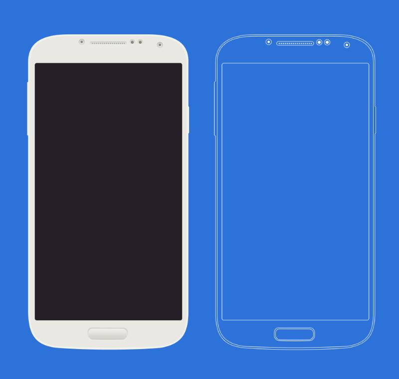 Samsung Galaxy S4 PSD