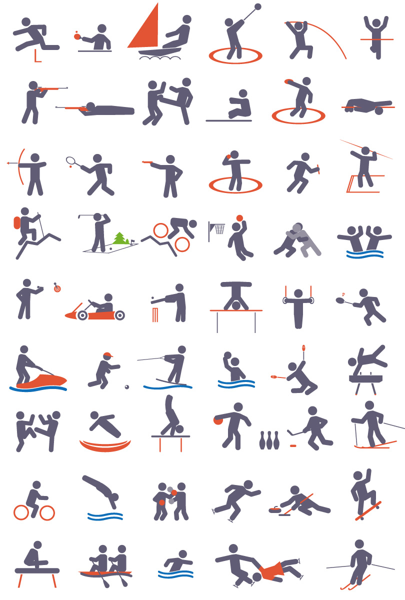 Sports Icon Set Vector