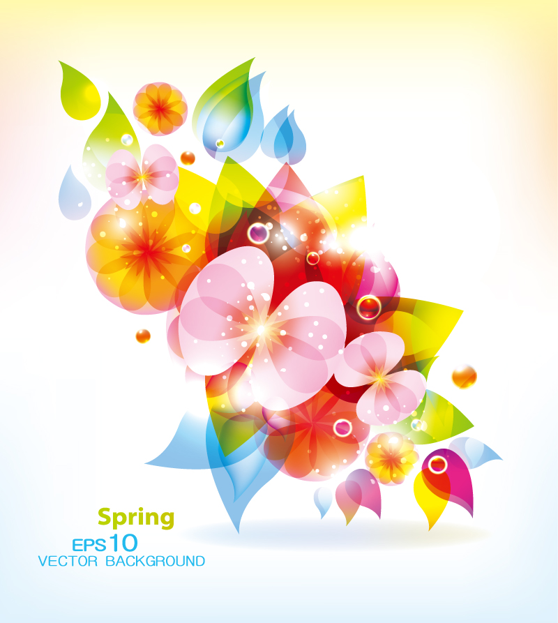 Spring Fantasy Flowers Background