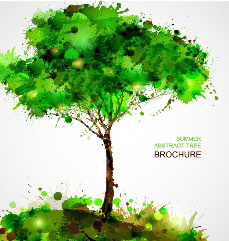 Summer Abstract Tree Brochure Blots