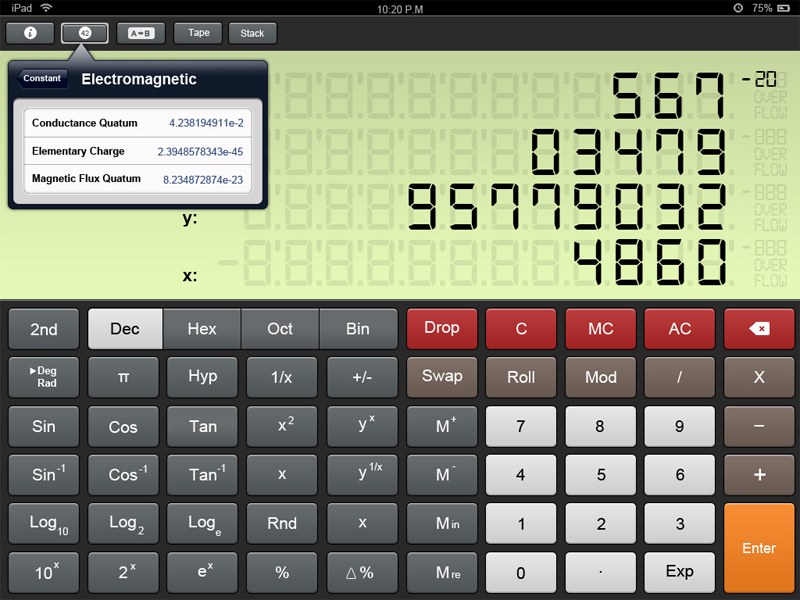 iPad Calculator UI PSD
