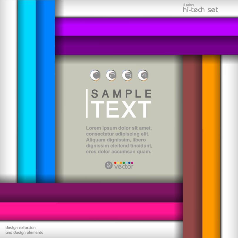 4 Colors Hi-tech Set Vector