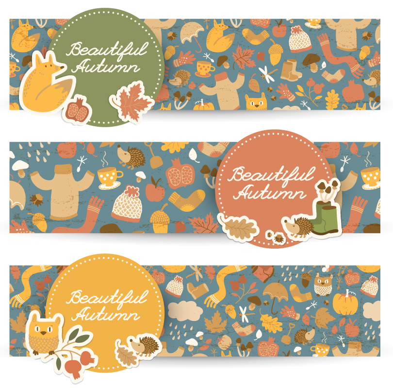 Beautiful Autumn Banner Vector